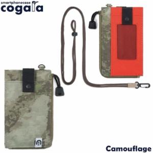 aaa568bca3 スマートフォンケース ネックストラップ スマホケース スマホポーチ cogara Camouflage メンズ レディース コー