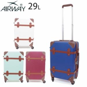 a67533f9ac キャリーケース 機内持ち込み かわいい トランク型 AIRWAY キャリーバッグ キャリー レディース スーツケース 全4