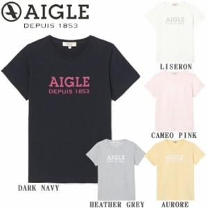 【郵 メール便 送料無料 】 エーグル Tシャツ レディース 半袖 ブランド 抗菌防臭加工 ポリジン W's ロゴTシャツ 全5色 M/L AIGLE