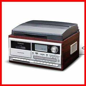 パソコン不要でダビング マルチレコードプレーヤー ブラウンウッド VS-M009 ベルソス 【B】 プラザセレクト 送料無料
