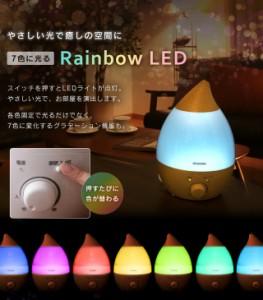 超音波加湿器 2.8L しずく型 加湿器 加湿 おしゃれ 抗菌カートリッジ付き アロマ対応 LEDライト PH-U28 アイリスオーヤマ 送料無料