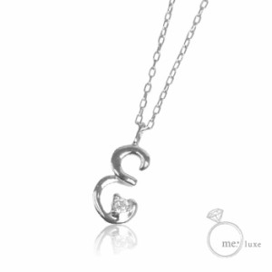 2ef58bbd813f17 me.ダイヤ/イニシャルネックレス E 【ネックレス】【necklace】【首飾り】