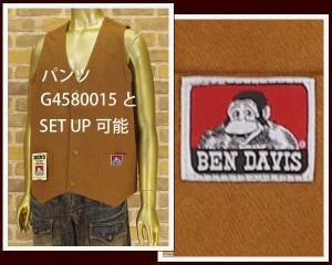 ベンデイビス DUCK DAVIS VEST ダック ベスト メンズ BEN DAVIS 【G4580018-32】