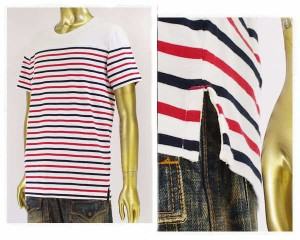 キャセイクロセット リゾート ボートネック ボーダー Tシャツ メンズ CATHYS CLOSET 【43702801RDマリン】