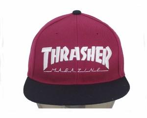 スラッシャー 帽子 マグロゴ 刺繍 定番ストリートデザインが幅広くマッチング スナップバック キャップ メンズ THRASHER 【17TH-C04 2 MA