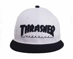 スラッシャー 帽子 マグロゴ 刺繍 定番ストリートデザインが幅広くマッチング スナップバック キャップ メンズ THRASHER 【17TH-C04 3 MA