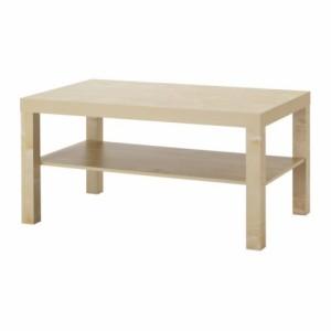送料無料【IKEAイケア】LACKコーヒーテーブル バーチ調 90x55 cm