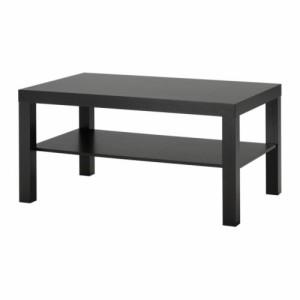 送料無料【IKEAイケア】LACKコーヒーテーブル ブラックブラウン 90x55 cm