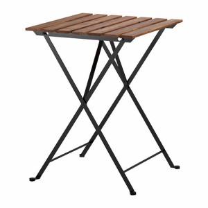 送料無料【IKEAイケア】TARNOテーブル 屋外用, 折りたたみ式 アカシア材【ブラック/グレーブラウンステイン スチール】