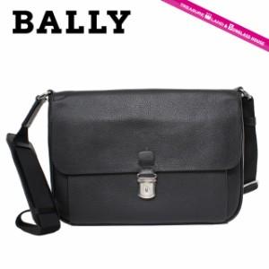 バリー ビジネスバッグ BALLY 6178834 MESSENGER BAG CASUAL MENFO-SM/100 CALF GRAINED BLACK ブラック メンズ 革 カーフレザー ブラン