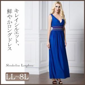 58f6ddae577c5 胸元がセクシーなパーティードレス♪ 大きいサイズ ドレス レディース ロング マキシ丈ドレス ロング