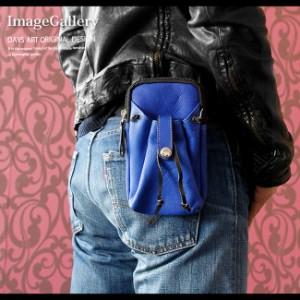 デイズアート スマホケース メンズ レディース ユニセックス 本革 カーフスキン ハンドメイド 巾着ポケット