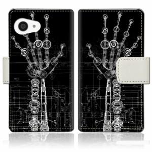 AQUOS R compact SHV41/701SH 手帳型 ケース カバー 手帳ケース 手帳カバー【HANDEDデザイン】