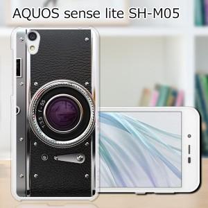AQUOS sense lite SH-M05 ハードケース/カバー 【レトロCamera PCクリアハードカバー】 スマートフォンカバー・ジャケット