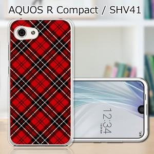 AQUOS R compact SHV41 ハードケース/カバー 【AKチェック PCクリアハードカバー】 スマートフォンカバー・ジャケット