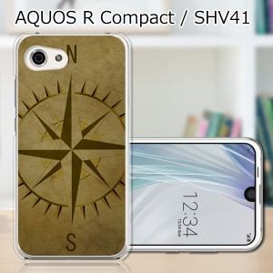 AQUOS R compact SHV41 ハードケース/カバー 【コンパス PCクリアハードカバー】 スマートフォンカバー・ジャケット