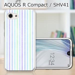AQUOS R compact SHV41 ハードケース/カバー 【Sストライプ PCクリアハードカバー】 スマートフォンカバー・ジャケット