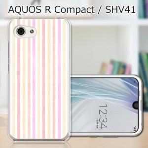 AQUOS R compact SHV41 ハードケース/カバー 【Pストライプ PCクリアハードカバー】 スマートフォンカバー・ジャケット