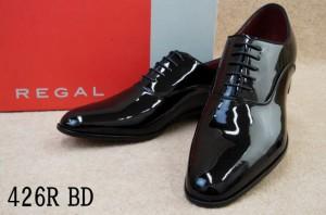 リーガル 靴 426R BD ENB / REGAL メンズ フォーマル ビジネスシューズ プレーントゥ ビジネス ドレスシューズ BLACK ブラックエナメル /