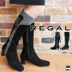 REGAL ブーツ evid 本革 ショートブーツ ウエッジソール ローヒール ベルト付き スエード レザーブーツ 3329 レザー 異素材コンビ リーガル レディース 本革ブーツ