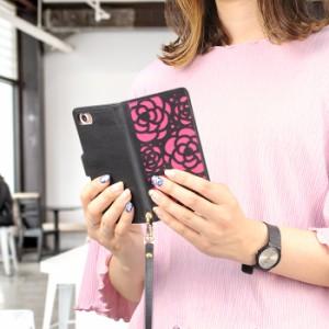 スマホケース 手帳型 全機種対応 iPhoneX ケース iPhone xperia エクスペリア glaxy ギャラクシーs8 カバー 花 smart_k155_all