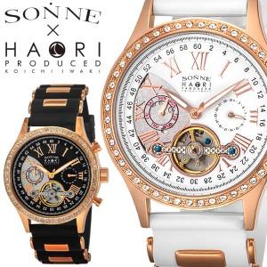 SONNE スケルトン メンズ 自動巻き 腕時計SONNE×HAORI ハオリ ゾンネ 【H016PGBK H016PGWH】
