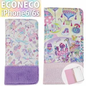 iPhone6S iPhone6 ECONECO エコネコ 絵子猫 手帳型 スマホ ケース カバー