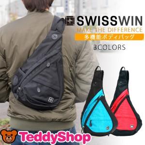 SWISSWIN ボディバッグ メンズ ワンショルダー バッグ ボディバッグ レディース ワンショルダー おしゃれ 斜めがけ 多機能 大容量