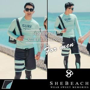 即納 水着 メンズ レギンス 単品 韓国ブランド SHEBEACH 正規品 シービーチ 男性 お洒落 UPF50+ 伸縮性 水着用レギンス かっこいい
