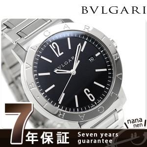 """""""ブルガリ BVLGARI ブルガリブルガリ 41mm 自動巻き メンズ BB41BSSD 腕時計 ブラック"""""""