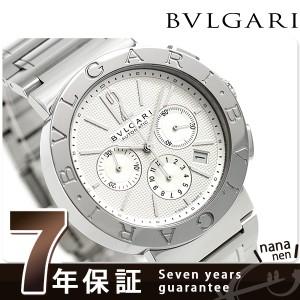 """""""ブルガリ BVLGARI ブルガリブルガリ 42mm クロノグラフ BB42WSSDCH 腕時計 シルバー"""""""