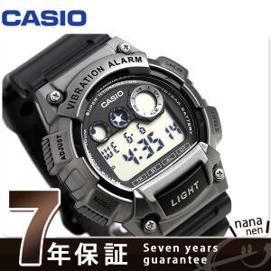 f1db53459c 【あす着】カシオ チープカシオ バイブレーションアラーム デュアルタイム W-735H-1A3VDF