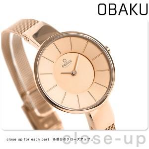 a938d4f6b7b2 【あす着】オバク OBAKU レディース 腕時計 32mm ローズゴールド V149LXVVMV メッシュベルト