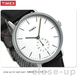 708159dd0793 【あす着】タイメックス フェアフィールド 41mm スモールセコンド TW2R38000 TIMEX 腕時計 革ベルト