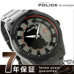 """""""【あす着】ポリス スクアドロン クオーツ メンズ 腕時計 PL14380JSB-61M POLICE グレー×ブラック"""""""