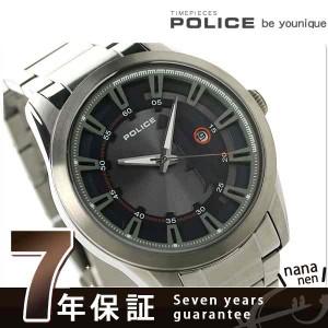 """""""【あす着】ポリス スクアドロン クオーツ メンズ 腕時計 PL14380JSU-03M POLICE シルバー×ブルー"""""""