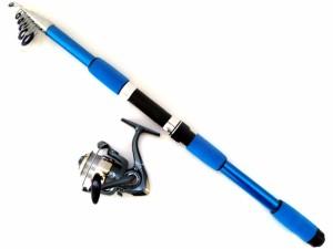 初心者にオススメ!コンパクトなロッド+糸付きリールの堤防ちょい投げセット(竿の長さ:ちょっと長めの2.4m)
