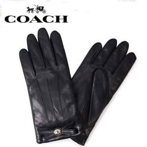 f53d6574e411 【メール便送料無料】F55189 BLK COACH コーチ アパレル 手袋 ブラック BLK レザー 手袋