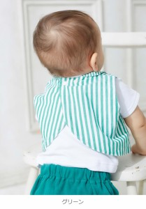 【ベビー】【Caldia】ブロードストライプシャツスタイ【赤ちゃん ベビー服 男の子 ウェア よだれかけ】