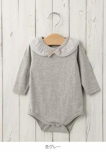 【ベビー】【coto cotte】衿フリルボディスーツ【赤ちゃん ベビー服 女の子 ウェア ロンパース カバーオール】