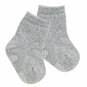 【ベビー】【日本製】のびのびベビーソックス【靴下/ソックス/滑り止め/防寒/ホワイト/白/グレー】
