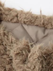 【マタニティ アウター】【産前産後対応】エコファーショートジャケット【妊婦服 マタニティー 羽織もの はおりもの】