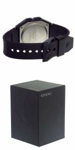 腕時計 メンズ コモノ KOMONO Power Grid Pitch Black ソーラー デジタル KOM-W2050 ブラック