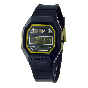 腕時計 メンズ コモノ KOMONO Power Grid Black Gold ソーラー デジタル KOM-W2051 ブラック・金縁