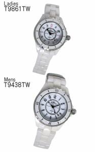 腕時計 ペア テクノス TECHNOS クオーツ T9438TW T9861TW ホワイト