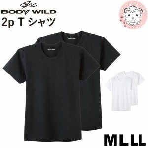 グンゼ ボディワイルド クルーネックTシャツ 2枚組 BW51132 M L LL