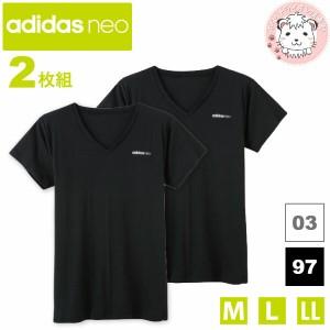 グンゼ アディダスネオ Vネック T シャツ 半袖 2枚セット M/L/LL