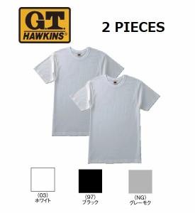 GUNZE グンゼ G.T.HAWKINS ホーキンス メンズ Tシャツ 2枚組 クルーネックTシャツ BASIC PACK T-SHIRT M L LL