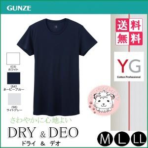 【送料無料】Tシャツ 10枚セット グンゼ GUNZE YG ワイジー DRY&DEOシリーズ 半袖 クルーネックTシャツ M L LL