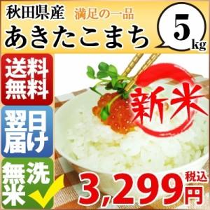 新米 お米 5kg 安い 29年産 秋田県 無洗米 あきたこまち 5kg 送料無料 北海道・沖縄・一部地域はキャンセル対応